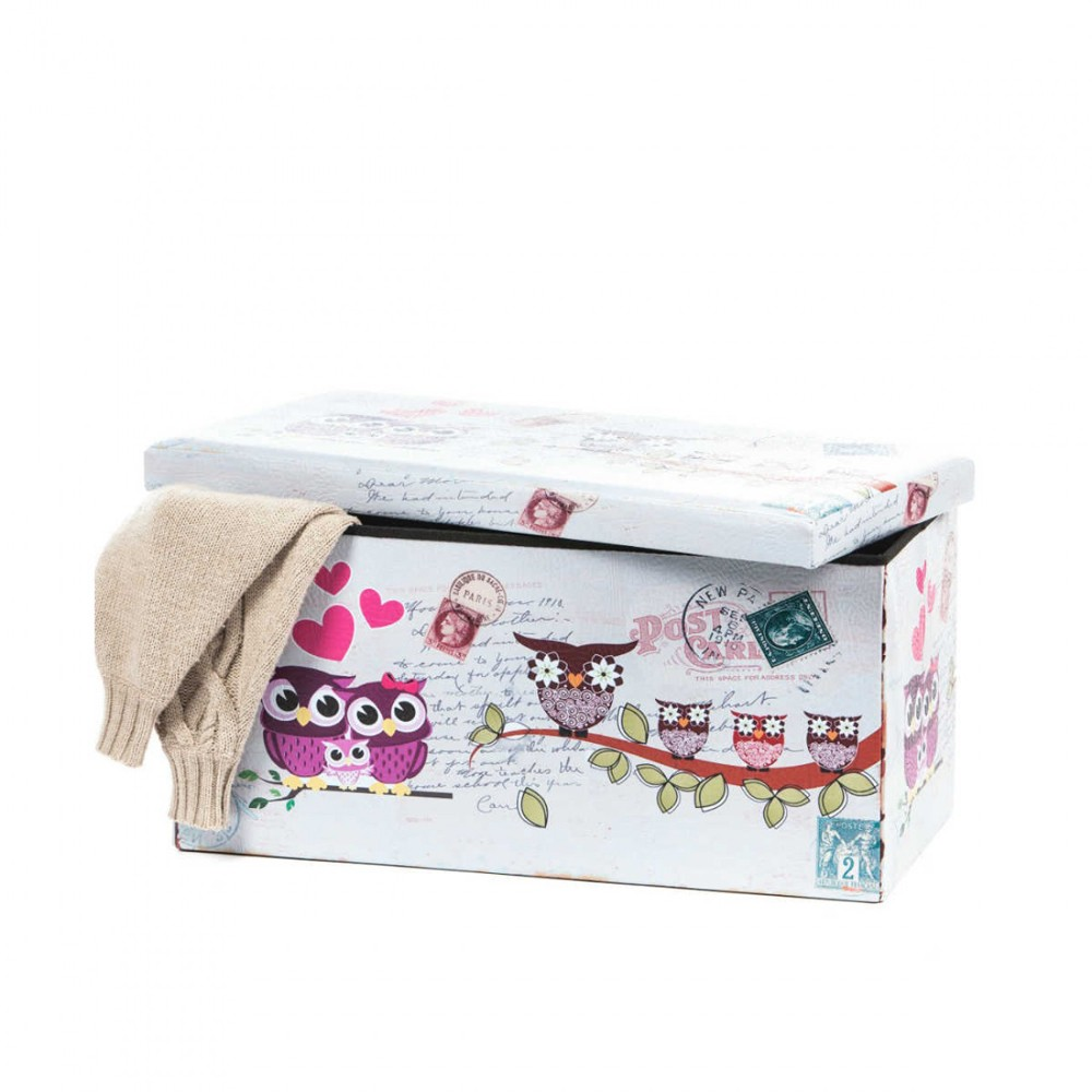 Taburete Design 76.5 x 38 Owls multicolor